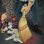 """عکس/ طرح محمد طحانی برای روزنامه ابتکار """"که در نهایت حذف شد"""""""