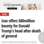 جمهوری اسلامی پس از سلمان رشدی، برای سر «ترامپ» هم جایزه تعیین کرد؛ ۸۰ میلیون دلار!