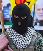 تروریست های منطقه ای جمهوری اسلامی در راهپیمایی ۲۲ بهمن
