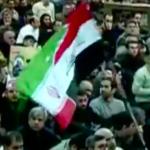 این پرچم هیبریدی نکبت در مراسم چهلم هلاکت قاسم سلیمانی مال کدوم کشوره؟