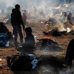 پناهجویان در مرز ترکیه با یونان، به خوردن علف روی آوردهاند (کلیپ کوتاه)