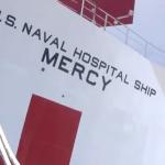 کشتی-بیمارستان 1000 تختخوابی USNS Mercy در لوس آنجلس پهلو گرفت (ویدئو کلیپ)