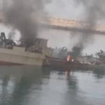 تصاویر و ویدئوی شناور کنارک پس از  سانحه