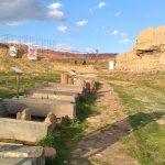 آتش سوزی مهیب در محوطه سایت تاریخی رَبع رشیدی تبریز