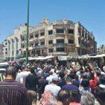 تظاهرات مخالفان و موافقان بشار اسد در شهر های مختلف سوریه (کلیپهای کوتاه)