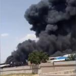 آتش سوزی در کارخانهای در تبریز