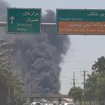 آتش سوزی کارخانه کشتی سازی در بوشهر