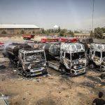 آتش سوزی در منطقه  صنعتی دولت آباد کرمانشاه