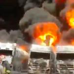 فیلم جدید از آتش سوزی منطقه صنعتی دولت آباد کرمانشاه