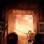پاساژ دوقلوی شهرداری سرابله در استان ایلام بر اثر آتشسوزی گسترده سوخت