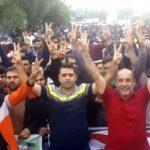 کارگران نیشکر هفتتپه علیرغم مداخله روز گذشته نیروهای امنیتی به اعتصاب ادامه دادند(۷۳مین روز)
