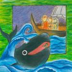 یونس اندر دهان ماهی شد