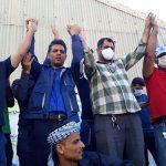 فیلم تجمع اعتراضی و راهپیمایی کارگران نیشکر هفت تپه در حمایت از فعالان کارگری بازداشتی