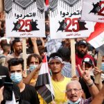 عراق: تظاهرات گسترده در سالروز اعتراضات اکتبر ۲۰۱۹ علیه نفوذ جمهوری اسلامی ایران و فساد (+ کلیپ کوتاه)