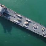 «ناو اقیانوس پیمای» سپاه  یک کشتی باری اسقاطی ایتالیایی از آب درآمد!