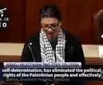 باورکردنی نیست؛ نماینده دمکرات کنگره امریکا با بستن چفیه در حال شیون و زاری برای فلسطین