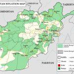 نقشه زنده پیشروی طالبان